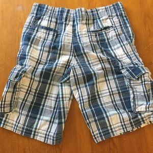 NO BOUNDARIES Men's Blue/White Plaid Shorts Sz 30
